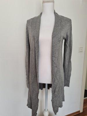 Cardigan all'uncinetto grigio-grigio chiaro Lana
