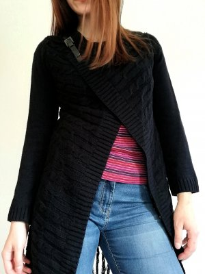 Anna Field Knitted Coat black