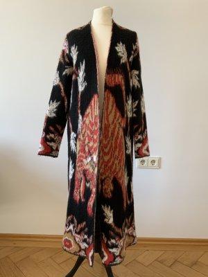 angela mele Manteau en tricot multicolore
