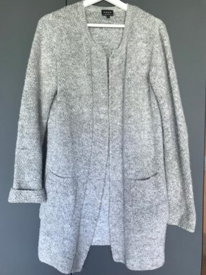 Reserved Gilet long tricoté gris-gris clair