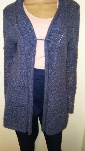 Mexx Płaszcz z dzianiny niebieski-ciemnoniebieski