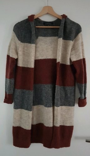 Only Long Knitted Vest oatmeal-dark red