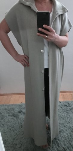 Zara Long Knitted Vest light grey