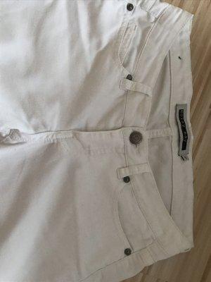 Noisy May Pantalon taille basse blanc