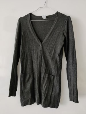 Vero Moda Long Knitted Vest dark grey