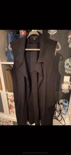 Amisu Gilet long tricoté noir