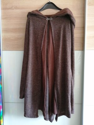 Knitted Coat brown-dark brown