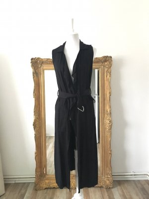 Butik Long Knitted Vest black-silver-colored