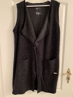 Ohne Long Knitted Vest anthracite