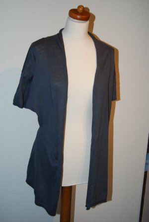 H&M L.O.G.G. Long Blouse blue-slate-gray cotton