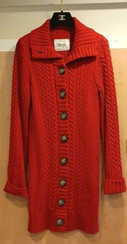 Blaumax Gilet long tricoté rouge