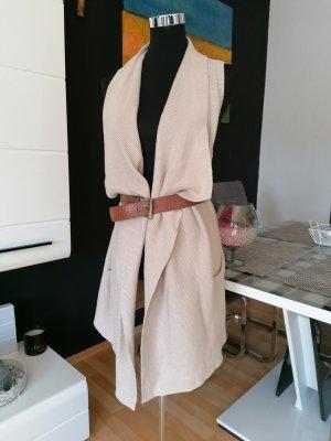 H&M Gilet long tricoté beige