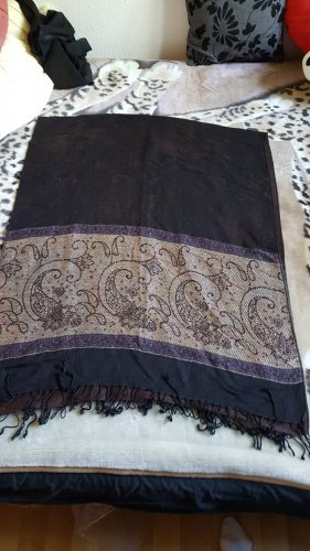 Ohne Fringed Scarf brown-lilac
