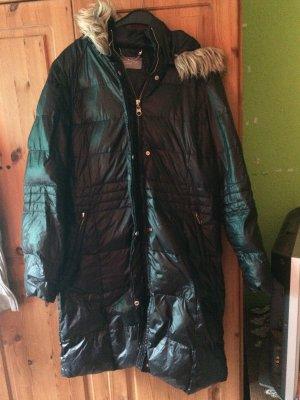 Langen Damen Mantel mit Kapuze