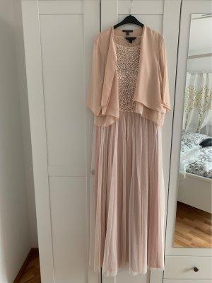 Robe à paillettes or rose