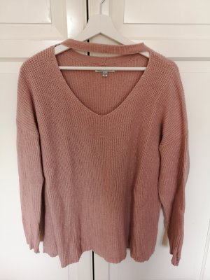 American Eagle Outfitters Pull tricoté vieux rose