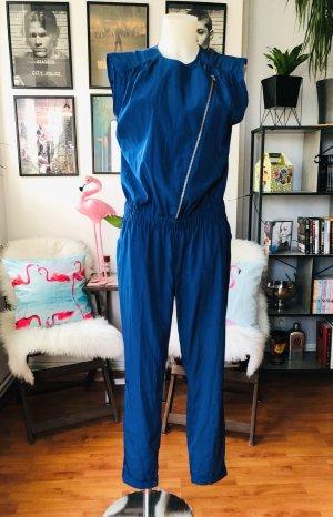 Langer blauer H&M Jumpsuit S/M