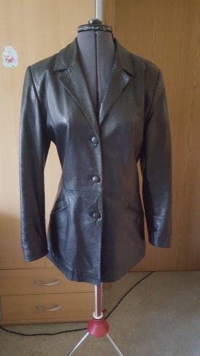 Paolo Santini Leather Blazer black leather
