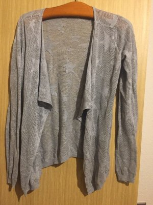 Only Cárdigan de ganchillo gris claro-color plata