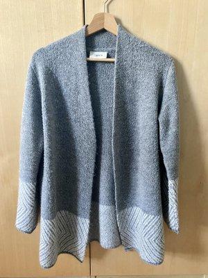 Cartoon Knitted Cardigan grey-light grey