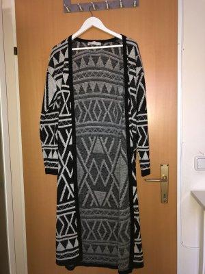 FB Sister Gilet long tricoté blanc-noir