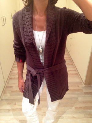 Coarse Knitted Jacket brown