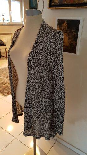 Langer Cardigan schwarz/weiß in Größe M
