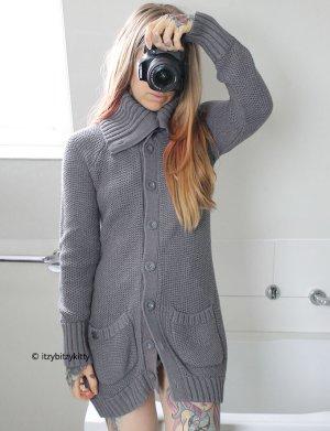 QS by s.Oliver Manteau en tricot gris