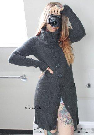 Only Manteau en tricot gris-gris foncé
