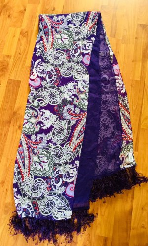 Street One Fringed Scarf multicolored