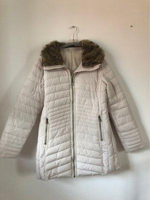 G!na Płaszcz puchowy w kolorze białej wełny