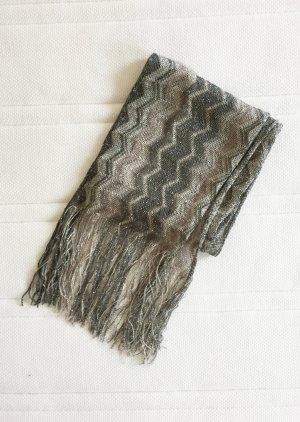 Mango Basics Sjaal met franjes veelkleurig Gemengd weefsel
