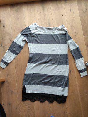 Only Fashion Vestido tipo jersey gris claro-gris oscuro