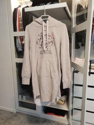 Langer hoodie in beige gr M longpullover