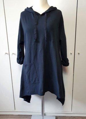 italienische Mode Pull à capuche noir coton