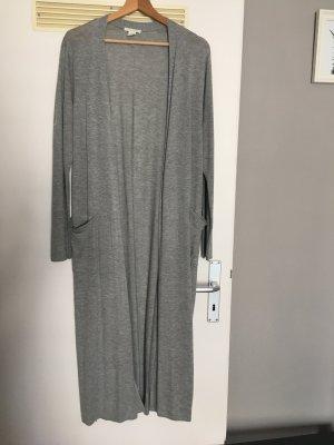 H&M Cappotto a maglia grigio chiaro
