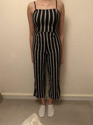 Bershka Pantalón de vestir blanco-negro