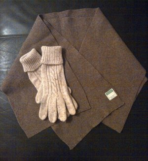 Benetton Woolen Scarf bronze-colored wool