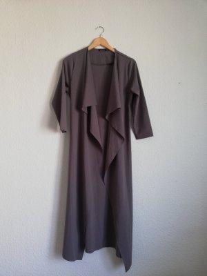 Bohoo Długi płaszcz szary-ciemnoszary