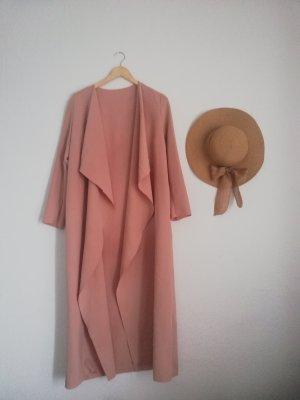 outerwear Cappotto lungo fino a terra rosa antico