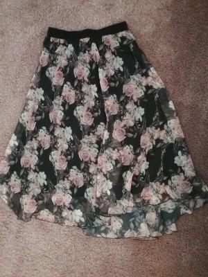 08/16 Jupe longue noir-or rose polyester