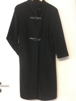 Avitano Wool Coat black angora wool