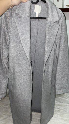 H&M Manteau polaire gris clair-gris