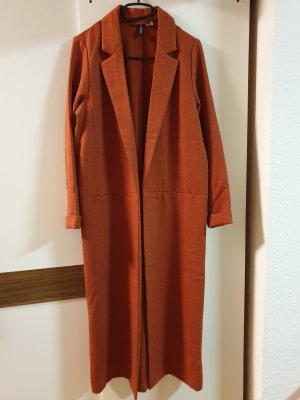 H&M Divided Giacca lunga arancione scuro-ruggine