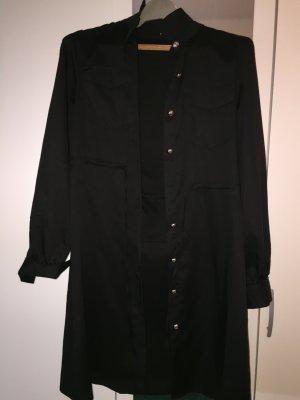 SheIn Manteau long noir polyester