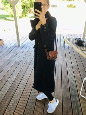 Vero Moda Długi płaszcz ciemnoniebieski