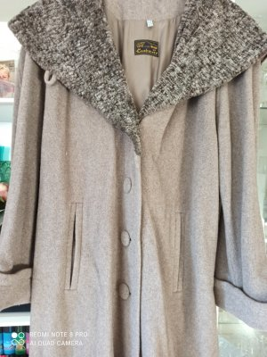Cashmere and Wool Wool Coat grey brown