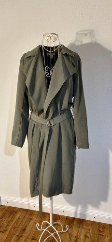 H&M Oversized jas groen-grijs