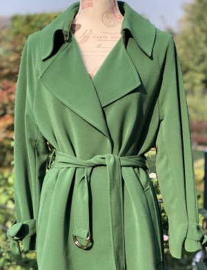 H&M Długi płaszcz zielony