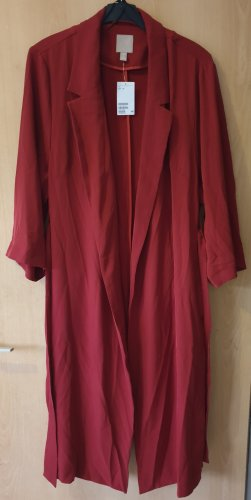 H&M Trenchcoat roodbruin